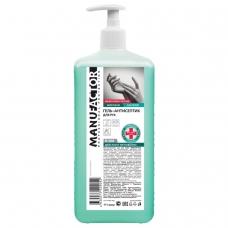 Антисептик кожный дезинфицирующий спиртосодержащий (66%) с дозатором 1 л MANUFACTOR, гель, N30830