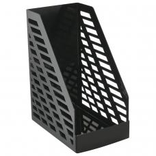 Лоток вертикальный для бумаг, увеличенная ширина 250х160х300 мм, СТАММ 'XXL', полипропилен, черный, ОФ333