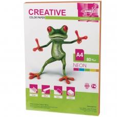 Бумага CREATIVE color Креатив, А4, 80 г/м2, 50 л. 5 цв.х10 л., цветная неон, БНpr-50r