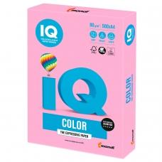 Бумага IQ color, А4, 80 г/м2, 500 л., неон, розовая, NEOPI