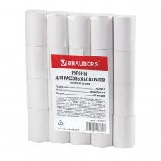 Рулоны для кассовых аппаратов, термобумага, 57х20х12 20 м, комплект 20 шт., BRAUBERG, 110879