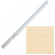 Бумага масштабно-координатная, рулон 878 мм х 10 м, оранжевая, STAFF