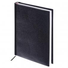 Ежедневник BRAUBERG недатированный, А5, 138х213 мм, 'Select', под зернистую кожу, 160 л., черный, 123429