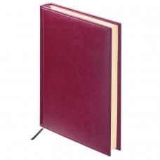 Ежедневник BRAUBERG недатированный, А6, 100х150 мм, 'Imperial', под гладкую кожу, 160 л., бордовый, кремовый блок, 123466