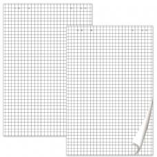 Блокноты для флипчарта BRAUBERG, КОМПЛЕКТ 5 штук, 20 листов, клетка, 67,5х98 см, 80 г/м2, 124097