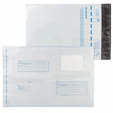 Конверты-пакеты С4 полиэтиленовые, комплект 10 шт., 229х324 мм, 'Куда-кому', отрывная лента, на 160 листов, 11003.10