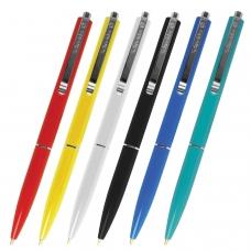 Ручка шариковая автоматическая SCHNEIDER 'К15', СИНЯЯ, корпус ассорти, узел 1 мм, линия письма 0,5 мм, 3080