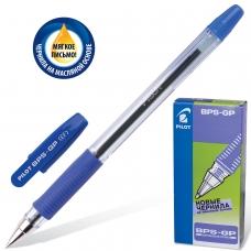 Ручка шариковая масляная с грипом PILOT 'BPS-GP', СИНЯЯ, корпус прозрачный, узел 0,5 мм, линия письма 0,25 мм, BPS-GP-ЕF