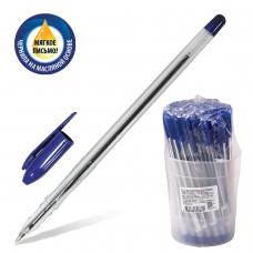 Ручка шариковая масляная СТАММ 'VeGa', СИНЯЯ, корпус прозрачный, узел 1,2 мм, линия письма 0,7 мм, РШ101