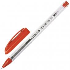 Ручка шариковая масляная BRAUBERG 'Rite-Oil', КРАСНАЯ, корпус прозрачный, узел 0,7 мм, линия письма 0,35 мм, OBP245
