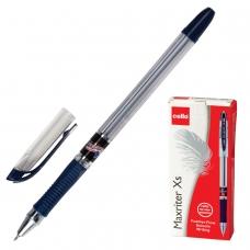 Ручка шариковая масляная с грипом CELLO 'Maxriter XS', СИНЯЯ, корпус прозрачный, узел 0,7 мм, линия письма 0,5 мм, 305229320/к