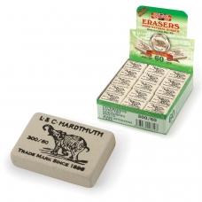 Резинка стирательная KOH-I-NOOR 'Слон', прямоугольная, 31х21х8 мм, белая, картонный дисплей, 0300060024KDRU