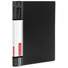 Папка с металлическим скоросшивателем и внутренним карманом BRAUBERG 'Contract', черная, до 100 л., 0,7 мм, 221781