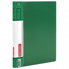 Папка с металлическим скоросшивателем и внутренним карманом BRAUBERG 'Contract', зеленая, до 100 л., 0,7 мм, 221784