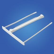 Механизмы для скоросшивания пластиковые FELLOWES Bankers Box, комплект 100 шт., пластик, белые, FS-0089701
