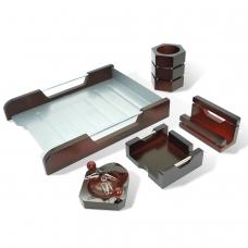 Набор настольный GALANT 'Wood&Metal', 5 предметов красное дерево, никелированный металл, лоток, 230873