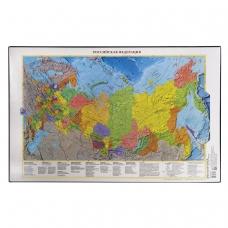 Коврик-подкладка настольный для письма, с картой России, 380х590 мм, 'ДПС', 2129.Р