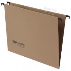 Подвесные папки картонные BRAUBERG, комплект 10 шт., 315х245 мм, до 80 л., А4, 220/240 г/м2, пластиковые табул., 231786