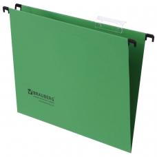 Подвесные папки картонные BRAUBERG, комплект 10 шт., 315х245 мм, до 80 л., А4, зеленые, 230 г/м2, табуляторы, 231791