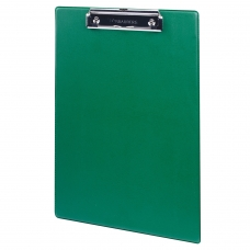 Доска-планшет BRAUBERG 'NUMBER ONE A4', с верхним прижимом, А4, 22,8х31,8 см, картон/ПВХ, зеленая, 232222