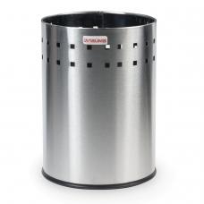 Корзина металлическая для мусора ЛАЙМА 'Bionic', 7 л, матовая, перфорированная, несгораемая, 232267