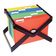 Подставка для подвесных архивных папок BRAUBERG , до 40 папок А4/Foolscap, черная, 235344