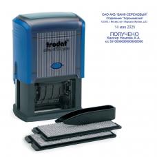 Датер самонаборный, 6 строк+дата, оттиск 60х40 мм, синий, TRODAT 4727, кассы в комплекте, 53333