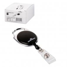 Держатели-рулетки для бейджей DURABLE , комплект 10 шт., с кнопкой, черные, 8324-01