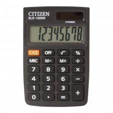 Калькулятор карманный CITIZEN SLD-100NR, МАЛЫЙ 90х60 мм, 8 разрядов, двойное питание