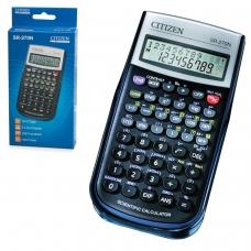 Калькулятор CITIZEN инженерный SR-270N, 236 функций, 10+2 разрядов, питание от батарейки, 154х80 мм, сертифицирован для ЕГЭ