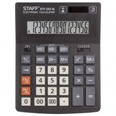 Калькулятор STAFF PLUS настольный STF-333, 16 разрядов, двойное питание, 200x154 мм, 250417