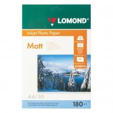 Фотобумага LOMOND для струйной печати, А4, 180 г/м2, 50 л., односторонняя матовая, 0102014