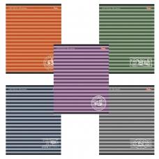 Тетрадь 96 л., HATBER, линия, обложка мелованный картон, 'Полосочки', 96Т5B2, T150306