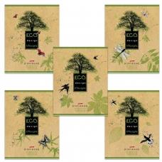 Тетрадь 80 л., HATBER, клетка, обложка КРАФТ ECO, 'Life Style', 80Т5В1, T189849