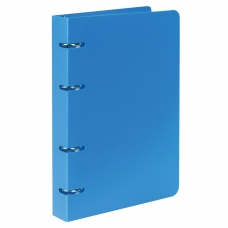 Тетрадь на кольцах, 80 л., BRAUBERG, А5, 160х205 мм, клетка, обложка пластик, 'Голубой', 403251