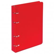 Тетрадь на кольцах, 80 л., BRAUBERG, А5, 160х205 мм, клетка, обложка пластик, 'Красный', 403252