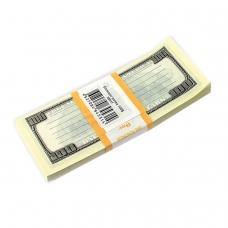 Блок для записей '100 долларов', проклеенный, 15х6х1 см, NH0000013