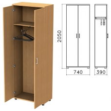 Шкаф для одежды 'Монолит', 740х390х2050 мм, цвет бук бавария, ШМ49.1