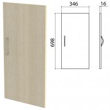 Дверь ЛДСП низкая 'Канц' 346х16х698 мм, цвет дуб молочный, ДК32.15