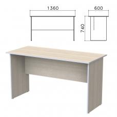 Стол письменный 'Бюджет', 1360х600х740 мм, дуб шамони светлый, 402661-430