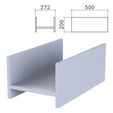 Подставка под системный блок 'Бюджет', 272х500х200 мм, серая, 402669-030